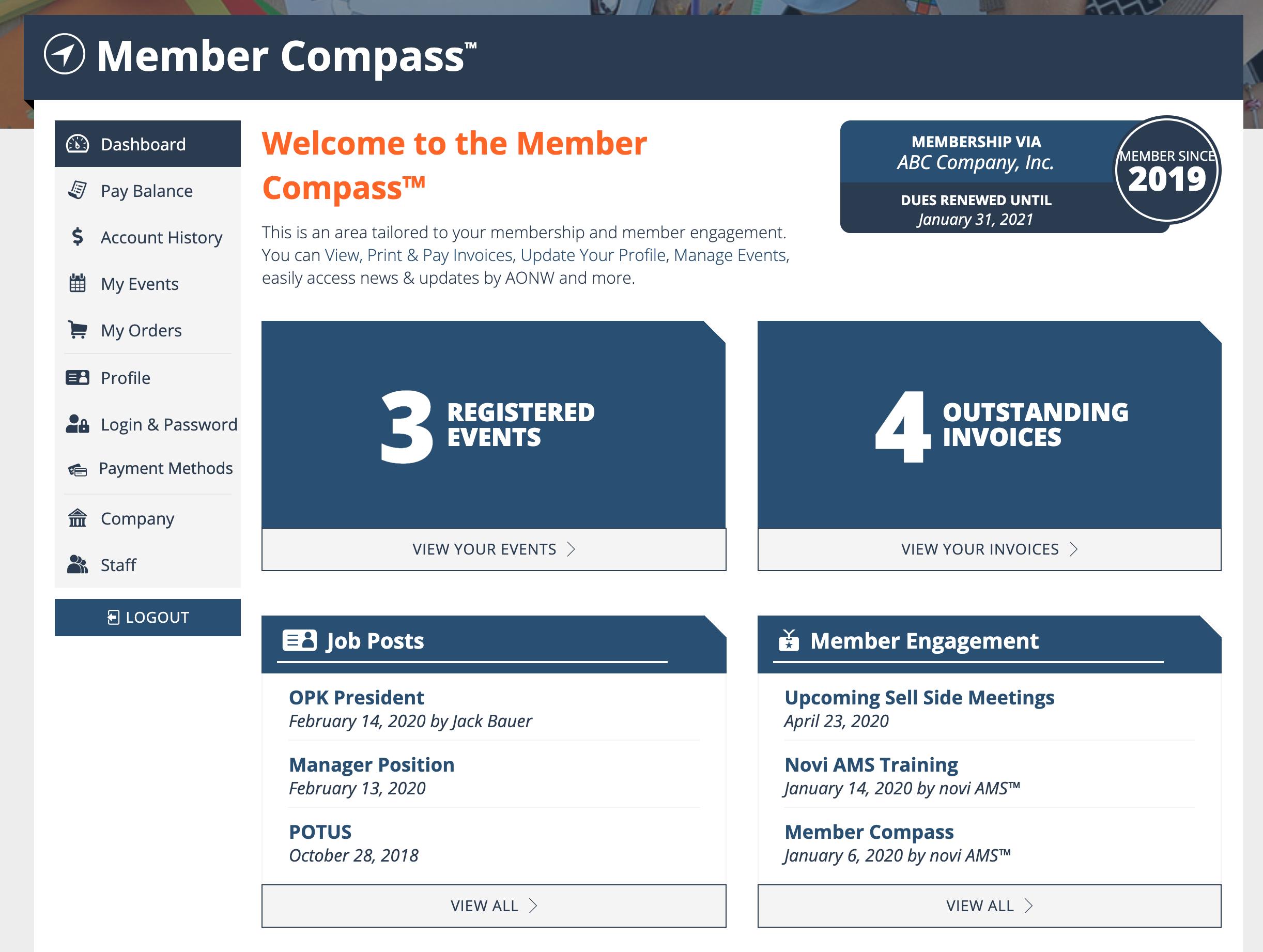 Member Compass Dashboard
